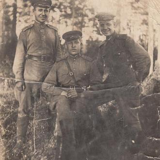 Фото. Группа офицеров. Период войны.