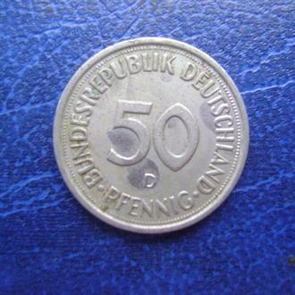 ФРГ. 50 пфеннигов 1980 год.
