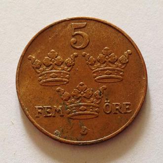 5 эре, 1938 г, Швеция