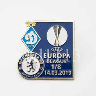 Футбол значок ФК Динамо Киев - Челси Лондон Англия Лига Европы 2018-19
