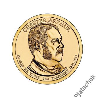 США  1 доллар 2012 г Честер Артур 21-й президент
