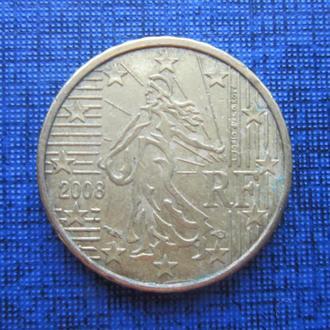 монета 10 евроцентов Франция 2008