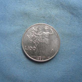 Италия 100 лир 1990 год