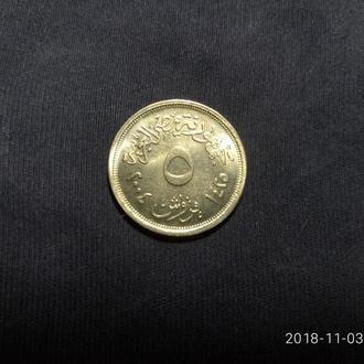 Египет 5 пиастров 2004 UNC!