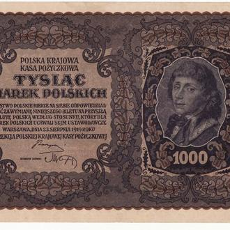 Польша 1000 марок 1919 серия 3, сохран! Большой формат