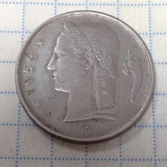 БЕЛЬГИЯ, 1 франк 1952