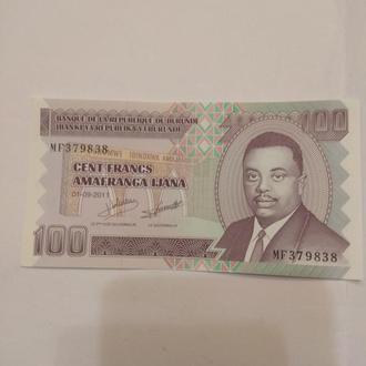 Бурунди 100 франков 2011 года
