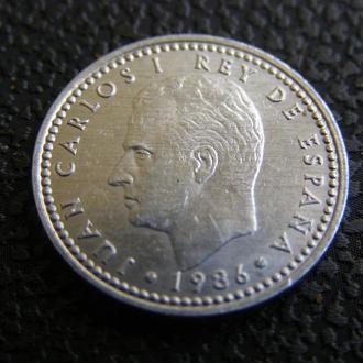 1 песета 1986