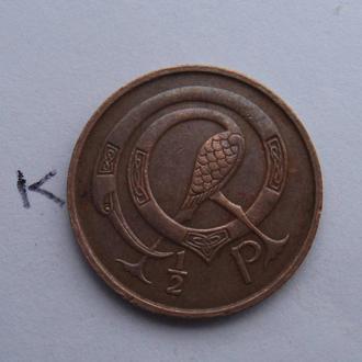 ИРЛАНДИЯ 1/2 пенни 1971 года.