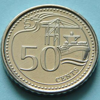 (А) Сингапур 50 центов 2013