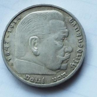 5 марок Гинденбург 1936 А г