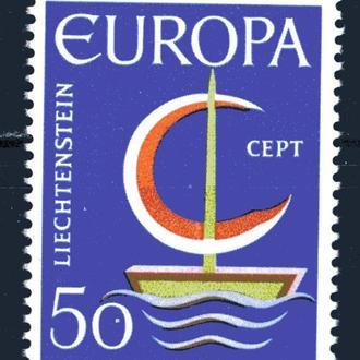 Лихтенштейн. ЕВРОПА (серия)** 1966 г.