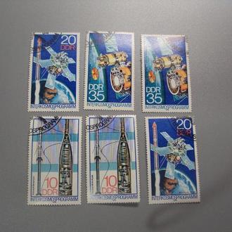 марки серия Германия ГДР 1978 космос ступники интеркосмос лот 6 шт гаш №1958