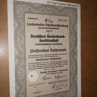 Рейх 500 рейхмарок 1939 Оригінал  (№19)