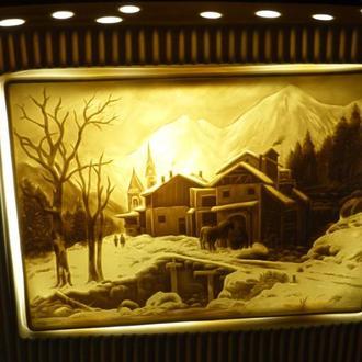 -=-  Светильник бисквитный фарфор - германия - ночник
