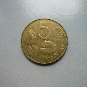 Финляндия 5  марок 1993 фауна