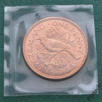 Новая Зеландия 1 пенни 1965 г. UNC из набора №2