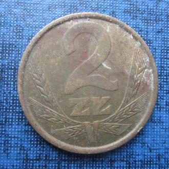 монета 2 злотых Польша 1985
