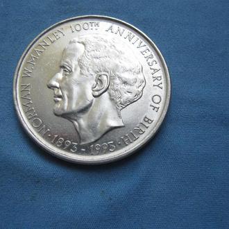 Ямайка 5 долларов 1993 год