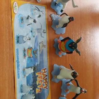 пингвины серия с 1 вкладышем новые