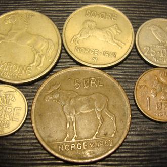 Норвегия 6 монет