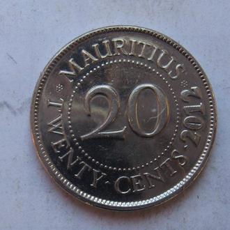 МАВРИКИЙ, 20 центов 2012 года (состояние).