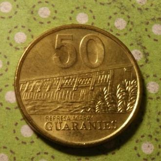 Парагвай 50 гуарани 1995 год монета !