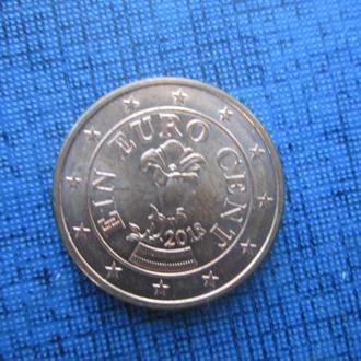 Монета 1 евроцент Австрия 2018