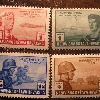 Україна Украина 1943 ХОРВАТІЯ Хорватия Mi 107 - 110 *MLH флот Азов Крим Сталінград Севастополь