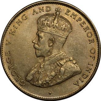 Цейлон 50 центів 1920 Срібло  A★186