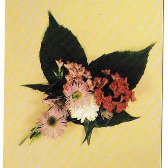 Открытка мини 1986 Цветы