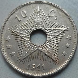 Бельгийское Конго 10 сантимов 1911