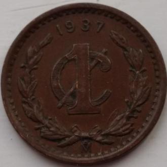 Мексика 1 сентаво 1937 год