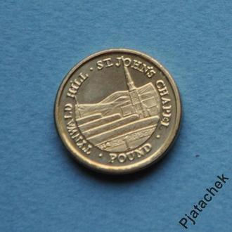 Остров Мэн 1 фунт 2004 г (М) нечастый