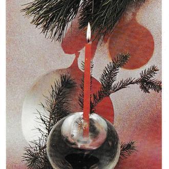 Открытка Счастливое Рождество, Словакия, подписана