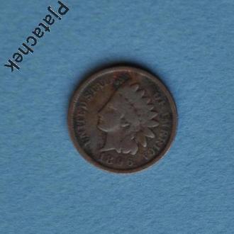 США Америка  1 цент 1896 №1