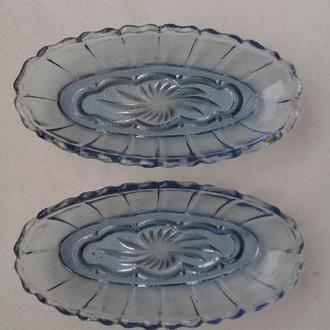 Сервировочные блюда розетки 2 шт. стекло