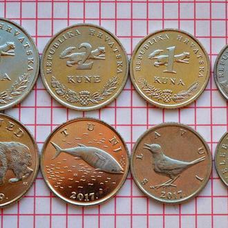 Хорватия, набор современных монет - 4 шт 1993-2019