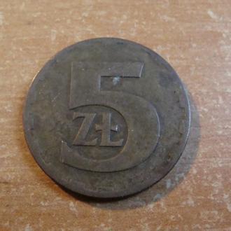 Польша 5 злотых 1976