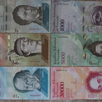 Венесуэла набор банкнот (500 1000 2000 5000 10000 20000) 2016 2017 гг. фауна животные  UNC 6 штук