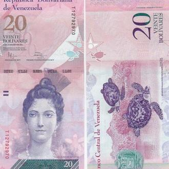Венесуэла 20 боливар 2014 UNC