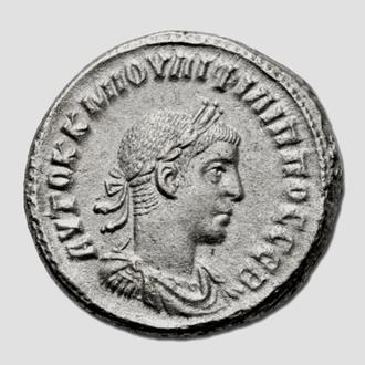 (А)3502 - Филипп II (247—249 г.) BI Тетрадрахма EF