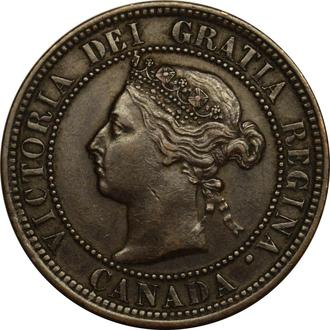 Канада 1 цент 1882 H  #279