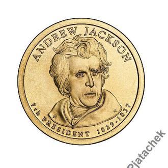 1 доллар Эндрю Джексон 8 -й президент США 2008 г