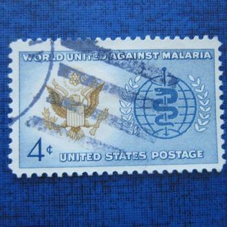 Марка США орёл медицина малярия гаш