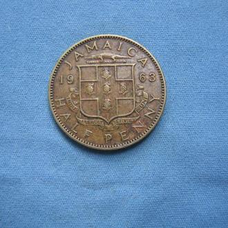 Ямайка 1/2 пенни 1963 год