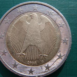 Германия 2 евро 2004 D
