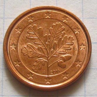 Германия_ 1 евро цент 2014 А оригинал
