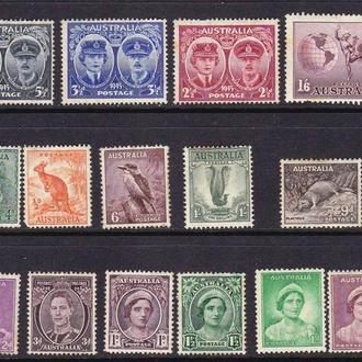 Австралия  * - подборка - 20 марок