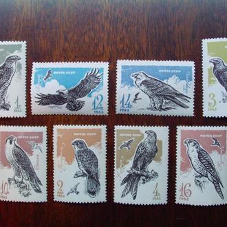 CCCР.1965г. Фауна. Хищные птицы. Полная серия. MNH